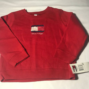 Tommy Hilfiger red sweatshirt girls 4T NWT